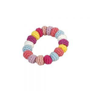 Gehäkeltes Armband (korallfarben) elastisch