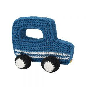 """Geländewagen gehäkelt (blau) """"Jeep""""-förmiges Greifspielzeug"""