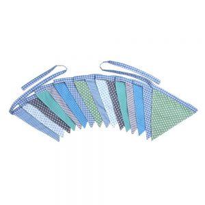 Wimpelkette (5m, Jungenfarben) Fahnen-Girlande