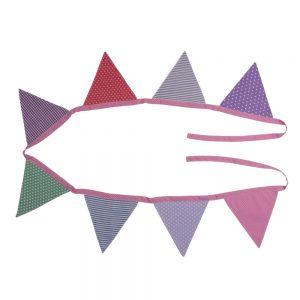 Wimpelkette (2,60m – Mädchenfarben) Fahnen-Girlande