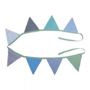 Wimpelkette (2,60m – Jungenfarben) Fahnen-Girlande