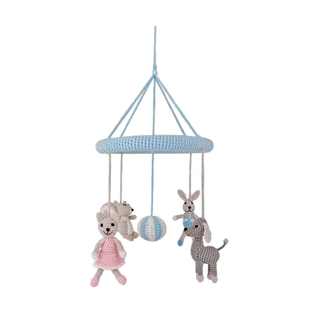 geh keltes baby mobile haustiere zum aufh ngen sindibaba de. Black Bedroom Furniture Sets. Home Design Ideas