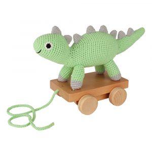 Gehäkeltes Nachziehtier Dinosaurier DINO in Mint