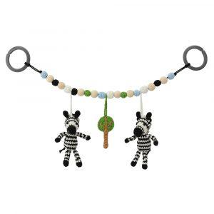12476 | Zebra STRIPEY Kinderwagenkette mit Befestigungsringen