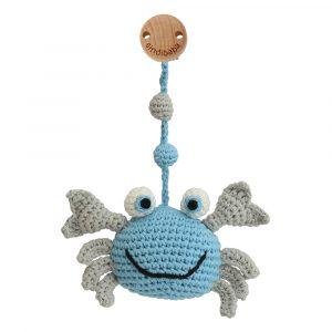 Kinderwagenanhänger gehäkelt Krabbe blau - Sindibaba (Art.-Nr.: 12433, GTIN: 4057586124336)