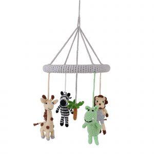 Baby Mobile Safari 2 - Nilpferd, Zebra, Giraffe, Löwe