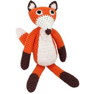 Häkel-Fuchs (Orange) Kuscheltier mit Rassel