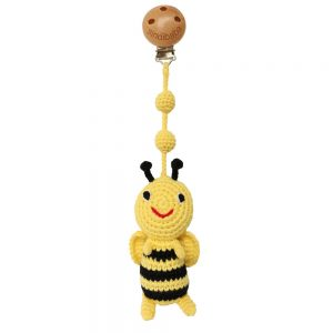 Baby-Kinderwagen-Anhänger mit gehäkelter Biene