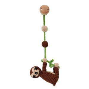 12451 | Sloth SLEEPY in brown | crochet pram toy