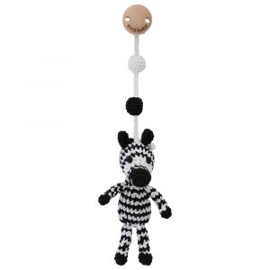Handmade crochet stroller toy ZEBRA STRIPEY for babies | 12473