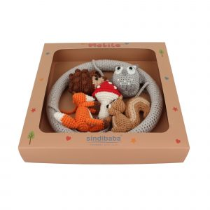 Crochet Baby Mobile FOREST ANIMALS 2 in gift box